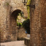 Stone archway in the city ramparts.