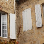Traditional windows and shutters.