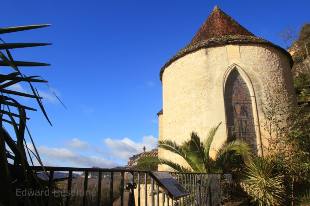 The back of the church as seen from in front of the Mairie.