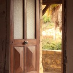 Rustic doorway.