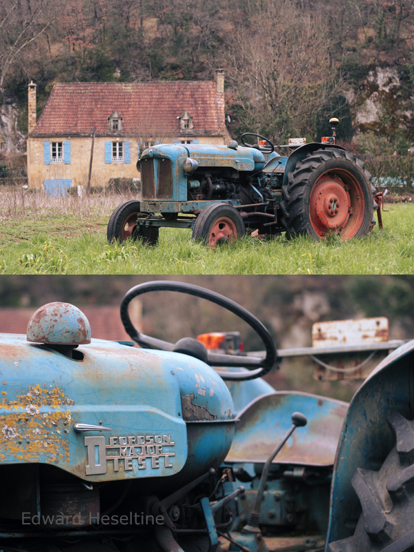 Ageing tractor diptych.