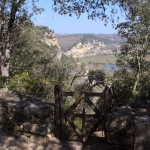 View of La Roque Gageac from the cliff walk.