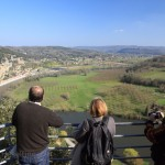 View of La Roque Gageac from the belvedere - 129m above the Dordogne.